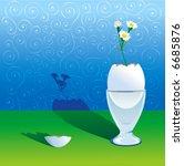 a flower growing of break egg ... | Shutterstock .eps vector #6685876