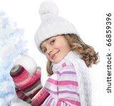 Cute Little Girl In Warm...