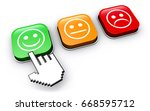 happy customer feedback concept ... | Shutterstock . vector #668595712