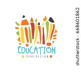 education label original design ... | Shutterstock .eps vector #668601862