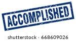 square grunge blue accomplished ... | Shutterstock .eps vector #668609026