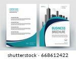 modern business brochure layout ... | Shutterstock .eps vector #668612422