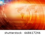 graphical digital news... | Shutterstock . vector #668617246
