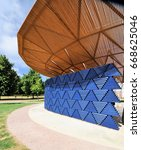 Small photo of LONDON - JUNE 23, 2017. The 17th temporary Serpentine Gallery annual Summer Pavilion is designed this year by African architect Francis Kere, in Kensington Gardens, London, UK.