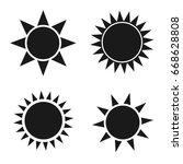 set sun icons  flat design...