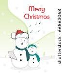 vector illustration for merry... | Shutterstock .eps vector #66863068