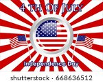 united stated independence day... | Shutterstock .eps vector #668636512