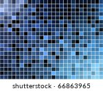 abstract square pixel mosaic... | Shutterstock .eps vector #66863965