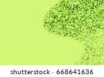 light green vector abstract... | Shutterstock .eps vector #668641636