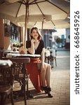 artistic portrait of a woman...   Shutterstock . vector #668645926