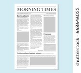 graphical design newspaper... | Shutterstock . vector #668646022