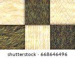 abstract golden seamless... | Shutterstock .eps vector #668646496
