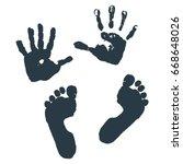 Imprint Of Children S Palms An...