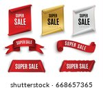 big sale banner.super sale... | Shutterstock .eps vector #668657365