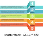 color stripes infographic... | Shutterstock .eps vector #668674522