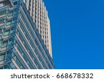 low angle of modern business...   Shutterstock . vector #668678332