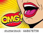 closeup of sexy open female... | Shutterstock .eps vector #668678758