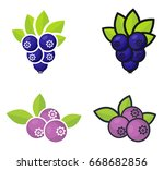 cartoon currant black and... | Shutterstock .eps vector #668682856