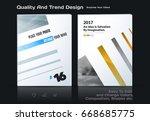 set of business vector template ... | Shutterstock .eps vector #668685775
