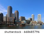 a view of the boston harbor... | Shutterstock . vector #668685796