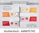 business horizontal info... | Shutterstock .eps vector #668691742