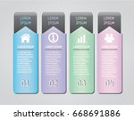 business vertical info graphics ... | Shutterstock .eps vector #668691886