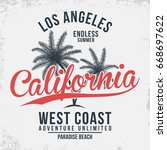 california  los angeles... | Shutterstock .eps vector #668697622