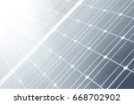 the texture of the solar cell...   Shutterstock . vector #668702902