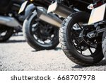 motorcycle luxury items close... | Shutterstock . vector #668707978
