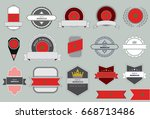 made in morocco seal  moroccan... | Shutterstock .eps vector #668713486