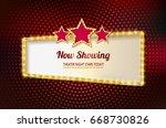 retro marquee stylish frames... | Shutterstock .eps vector #668730826