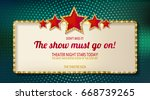 colorful retro marquee stylish...   Shutterstock .eps vector #668739265