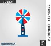 windmill icon in trendy flat...