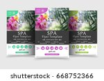 minimalistic spa and healthcare ... | Shutterstock .eps vector #668752366