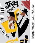 abstract jazz art  vector art  | Shutterstock .eps vector #668755852