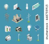 power icons isometric set with... | Shutterstock .eps vector #668755915