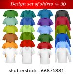 color t shirt design template.... | Shutterstock .eps vector #66875881