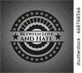 between love and hate dark... | Shutterstock .eps vector #668768566