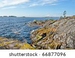 rocky bank of the ladoga lake | Shutterstock . vector #66877096