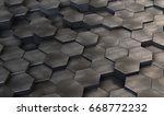 abstract metal steel hexagonal... | Shutterstock . vector #668772232