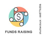 icon to raising funds in the... | Shutterstock .eps vector #668776306