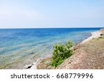 colorful coastline view at the...   Shutterstock . vector #668779996