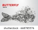 butterfly of the particles. the ...   Shutterstock .eps vector #668785576