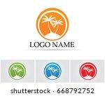 Palm Tree Summer Logo Templat...