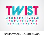 vector of modern abstract font... | Shutterstock .eps vector #668803606