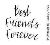 best friends forever   hand... | Shutterstock .eps vector #668807728