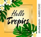 hello tropics | Shutterstock .eps vector #668813182
