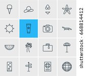 vector illustration of 16... | Shutterstock .eps vector #668814412