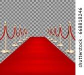 realistic red carpet between... | Shutterstock .eps vector #668818246
