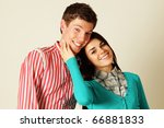 smiling young couple isolated | Shutterstock . vector #66881833